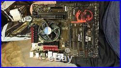 4790k Processor, Msi Z87-G45 MOTHERBOARD, 16 GIG evga ram combo