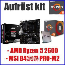#5 AMD Ryzen 2600 Prozessor / MSI B450 Mainboard / Aufrüst kit CPU Bundle Gaming