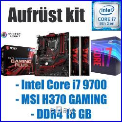 #6 Intel Core i7 9700 / H370 Mainboard / DDR4 16GB / Gaming Bundle Aufrüst kit