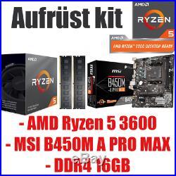 #8 AMD Ryzen 5 3600 / MSI B450 Mainboard / DDR4 16GB 3000 / Aufrüst kit Bundle