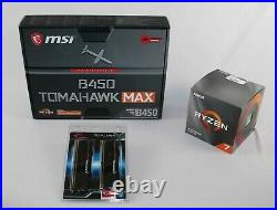 AMD 3800X Ryzen 7 + MSI B450 Tomahawk MAX Motherboard & 16GB DDR-4 3200 COMBO