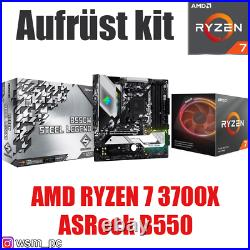 AMD 7 3700X ASRock B550 Mainboard Ryzen PC Bundle Set Kit