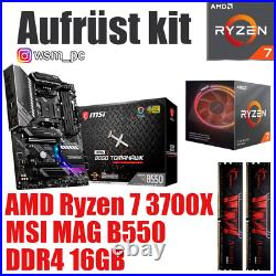AMD 7 3700X MSI B550 Mainboard 16GB RAM Ryzen PC Bundle Kit