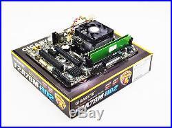 AMD A8-7650K 3.8GHz Quad Core CPU Gigabyte F2A78M-HD2 Motherboard Bundle No RAM