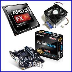 AMD FX 4300 Quad Core 4.00GHz Gigabyte 78LMT-USB3 Motherboard Bundle
