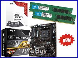 AMD Quad Core Gaming Motherboard CPU Bundle 16GB DDR4 RAM Pre-Assembled
