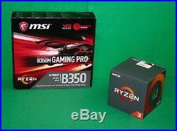 AMD Ryzen 3 1200 3.1 GHz 4x Core & MSI B350 gaming pro AM4 Motherboard COMBO KIT