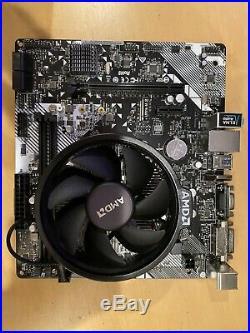 AMD Ryzen 5 1600 CPU + cooler + Asrock B450M-HDV R4.0 Motherboard Combo