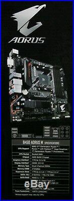 Motherboard Cpu Combo Amd Ryzen 5 2600x Gigabyte B450 Aorus M Matx Motherboard 8gb Ram Build Combo