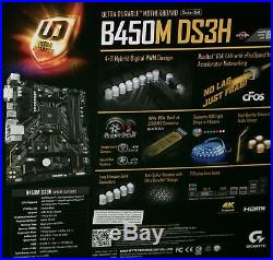 AMD Ryzen 5 3400G & Gigabyte B450M DS3H mATX Motherboard & 16GB RAM BUILD COMBO