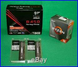 AMD Ryzen 5 3600 3.6GHz & AsRock B450 Gaming ITX/AC Motherboard & 16GB RAM COMBO