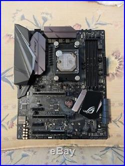 AMD Ryzen 7 1700 cpu with ASUS Strix x370 motherboard and EK Waterblock