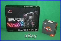 AMD Ryzen 7 1700X 3.4 GHz & Asus ROG Strix B450-F Gaming Motherboard Combo