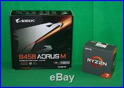 AMD Ryzen 7 1700X 3.4GHz Processor & Gigabyte B450 Aorus M motherboard COMBO