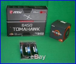 AMD Ryzen 7 2700X 3.7GHz 8 core & MSI B450 Tomahawk ATX MB + 32GB RAM Combo