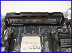 AMD Ryzen5 2400G CPU Combo Asrock B450 ITX/AC Motherboard 8GB Ballistix DDR4