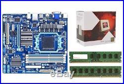 AMD X4 FX4350 Quad Core 4.2Ghz CPU GIGABYTE Motherboard 8GB DDR3 Ram Combo