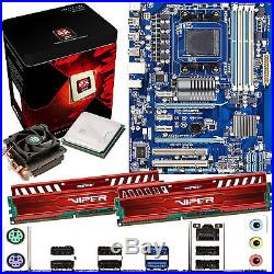 AMD X8 Core FX-8320 3.5Ghz & GIGABYTE 970A-DS3 & 8GB DDR3 1600 Viper Venom Red