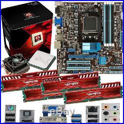 AMD X8 Core FX-8350 4.0Ghz & ASUS M5A78L-M USB3 & 32GB DDR3 1600 Viper Venom Red