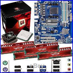 AMD X8 Core FX-8350 4.0Ghz & GIGABYTE 970A-DS3 & 16GB DDR3 1600 Viper Venom Red