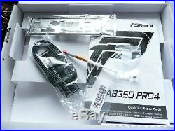 ASROCK AB350 PRO4 AM4 Motherboard Combo with AMD RYZEN 5 1600 3.2 3.6 GHz CPU