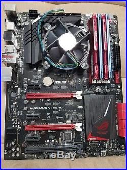ASUS ROG Motherboard, Intel i5 4570 CPU and Kingston 24GB DDR3 1600 Memory Combo