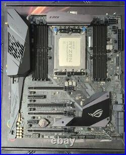 Amd Threadripper 1900x 8 Core 16 Thread + Asus Rog Strix X399-e Gaming