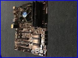 Asrock Z 87 extreme 4 motherboard, i5 intel cpu, 8 GB ram Corsair Vengeance