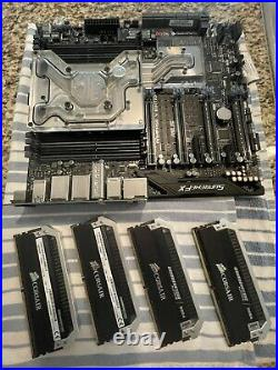 Asus Rampage V Edition 10 + Intel 5960x + EKWB Monoblock + 4x4gb(16gb) DDR4 +DAC