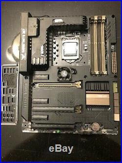 Asus Sabertooth z87 motherboard with Intel i7 4770k CPU LGA 1150 incl I/O shield