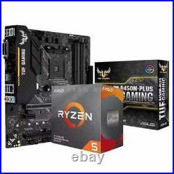 Asus TUF B450M-PLUS GAMING Motherboard combo kit set Ryzen 5 3500X AM4 CPU DDR4