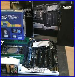 Asus X99 Deluxe Motherboard/ Intel 5960x Extreme edition CPU 32gb ram
