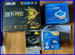 Asus Z87i Pro, Intel i5 4670k, Corsair Vengance LP 16GB (2x8gb) 1600mhz, AR06