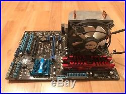 Asus motherboard, i5-3570k CPU, 8GB G. Skill DDR3-2133 RAM, Arctic Heatsink & Fan