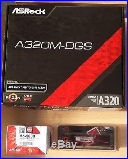 Aufrüstkit AMD AMD A8-9600 AM4, ASRock MB u. 4 GB DDR4 G. Skill Aegis