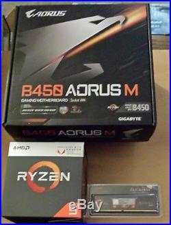 Aufrüstkit AMD Ryzen 5 2400G AM4, Gigabyte MB u. 8 GB DDR4 G. Skill PC3000