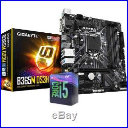 Bundle Scheda Madre B365M + Cpu i5 9400 4.10Ghz +Ram 8Gb 2400Mhz Kit Per Desktop
