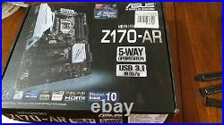 Bundled Intel Core I7-6700k, Asus Z-170 AR Motherboard, Ballistix 2400MHz 16 gb