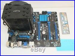 Carte mère motherboard MSI Z77A-G45 Socket 1155 + Core i5 3570 @ 3,4 Ghz + 8 GB