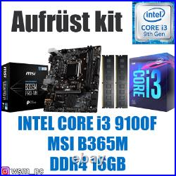 Core i3 9100F MSI B365 Mainboard 16GB RAM Intel PC Bundle Kit