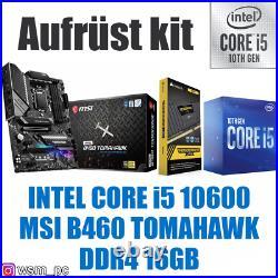 Core i5 10600 MSI Mainboard 16GB RAM Intel Bundle Kit + GRAFIK