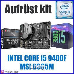 Core i5 9400F MSI B365 Mainboard Intel PC Bundle Set Kit