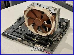 Core i7-5960x 8c16t, Asus x99 TUF MB, Corsair 32GB RAM, Noctua Cooler, SSD Combo