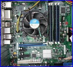 DQ67SW Intel Motherboard Combo with i5-2400 3.1 GHz 16GB RAM Fan Latest BIOS