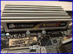 EVGA X58 motherboard, Intel i7-920 2.66 GHz cpu, 12GB corsair ram bundle