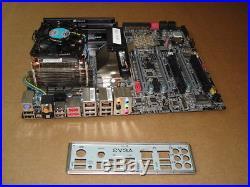 Evga X58 SLI, (132-BL-E758-BR) Motherboard With i7 2.8ghz CPU/fan, 6gb, io plate