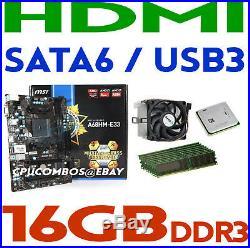 GAMING COMBO AMD A10-5800K CPU+16GB DDR3 RAM+MSI A68HM-E33 HDMI Motherboard