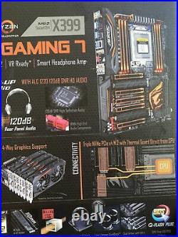 Gigabyte AORUS X399 Gaming 7 & AMD Ryzen Threadripper + 32 Gigs Of Memory COMBO