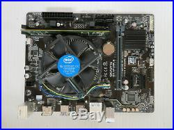 Gigabyte GA-H110M-A Motherboard + Intel i5 6500 CPU + 4Gb Ram + H/S Combo Lot