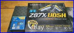 Gigabyte GA-Z87X-UD5H Motherboard & Intel I7 4770K De-Lidded Combo preinstalled